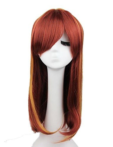 Perruques sexy marron synthétique naturel pour femme
