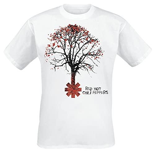 Red Hot Chili Peppers Higher Ground Männer T-Shirt weiß L 100% Baumwolle Band-Merch, Bands
