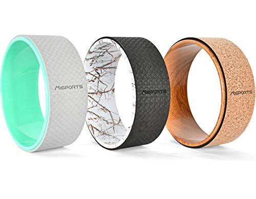 MSPORTS Yoga Wheel - Professional - Hilfsmittel bei Yoga-Übungen | Yoga Rad (Mint)