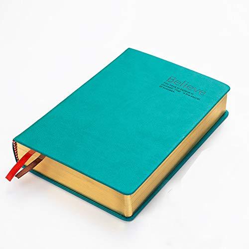 Cuaderno de cuero suave ultra grueso cuaderno bloc de notas en blanco estudio bibliográfico diario diario marcador bíblico dibujo escritura bloc de bocetos