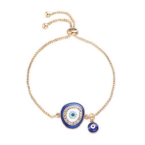 YUEKUN Türkische Glückliche Blaue Kristall Böse Augen Armbänder Handgefertigte Goldketten Glücklicher Schmuck