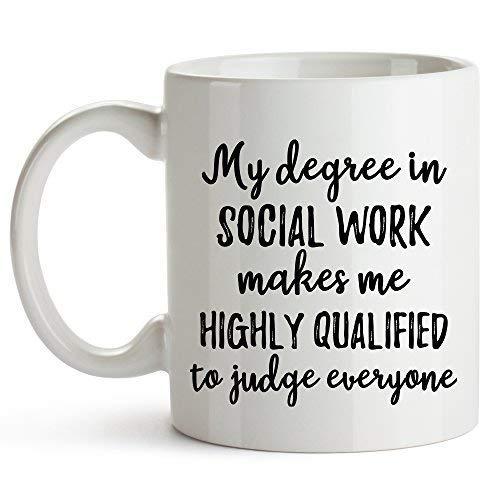 YouNique Designs Social Worker Coffee Mug, 11 Ounces, Social Work Mug, Funny Social Worker Cup
