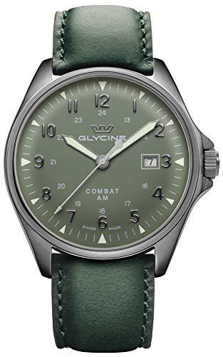 Combat 6 vintage orologio Uomo Analogico Automatico con cinturino in Pelle di vitello GL0298
