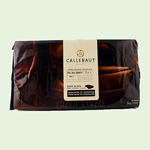 Callebaut Finest Belgian Dark Chocolate Baking Block - 70.5% - 1 block, 11 lbs