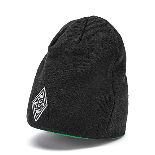 PUMA Mütze BMG Reversible Beanie, Puma Black-Bright Green-Reversible, UA, 21889