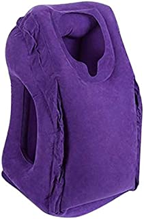 Travel Pillow, Portable Inflatable Travel Pillow Lightweight Multifunctional Head Support Sleep Pillow for Airplane, Bus, ...