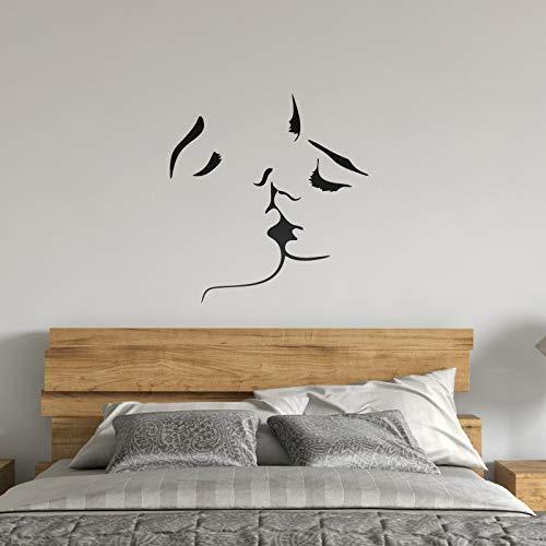 OOTSR Pegatinas de Pared de Beso, Arte Mural de La Etiqueta de La pared, Dulce Beso Vinilo Adhesivo Decorativo Pared Sticker para Familia Habitación Dormitorio Salón Cocina Baño