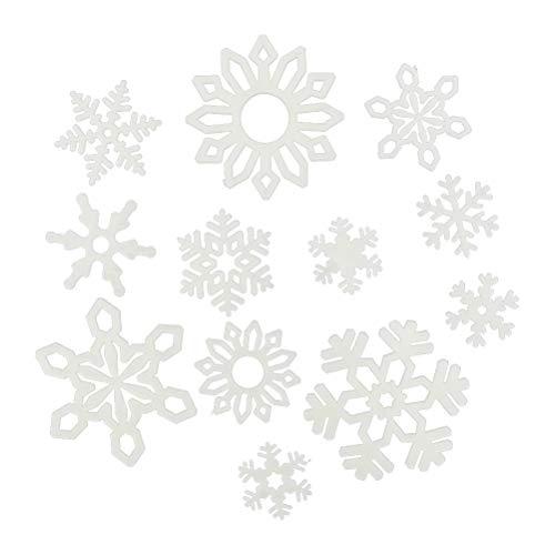 BESTOYARD Fiocchi di Neve Adesivi Stickers Adesivi Natale Finestra e Parete Muro 120 Pezzi