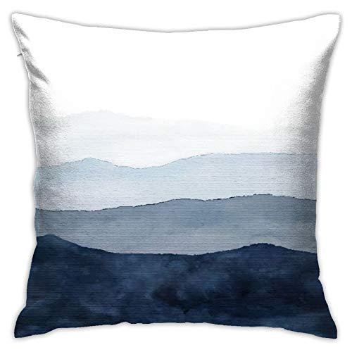 LOSNINA Fundas de Almohada, Delfín Submarino Azul Piscina Agua con Lindo Pez Nariz De Botella Mar, Sofá temático Sofá Sala de Estar Interior Exterior Decoración del hogar (18 '* 18') 1 Pieza