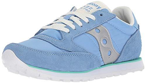 Saucony Women's Jazz Lowpro Sneaker, Blue/Green/Silver, 5 M US