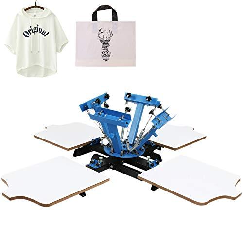 VEVOR Máquina de serigrafía Máquina de Impresión Pantalla Mesa de Impresión de Pantalla para Serigrafía de Aluminio Máquina Serigrafía Pulpo