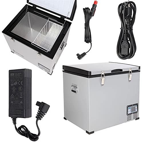 DWLOMHE Compresor de Refrigerador de Automóvil Refrigerador Pequeño Portátil Refrigerador de Automóvil Congelador, 12V / 24V DC Y 120V AC Refrigerador Compacto Refrigerador Portátil