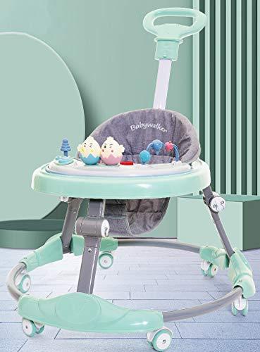 Olz Andador Bebe, Silla de Bebe Plegable y Ajustable para bebés de 6 a 18 Meses,Safety 1st Andador bebé Primeros Asiento alcochado, Base Antivuelco,Verde