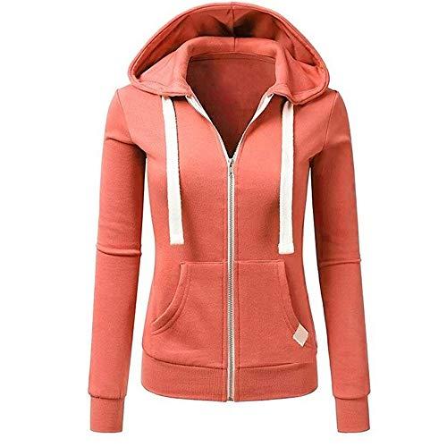 Damen Kapuzenpullover Sweatjacke Hoodie Sweatshirt Zipper Hoodies Sweatshirt Oberteil Pullover von Innerternet