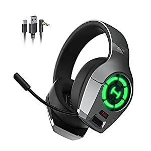 HECATE GX Hi-Res Gaming Headset for PC, PS4, PS5 Controller, Edifier Wired Gaming Headphones with Microphone, RGB Lighting, ENC Noise Canceling, 50mm Driver-Grey