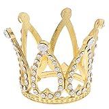 Mini Corona Princesa Top Sombrero Rhinestone Pequeño Melocotón Corazón Corona Princesa y Príncipe Cristal Tocado de Cristal Perla de Cristal de los Niños Accesorios para el Cabello Decoración de