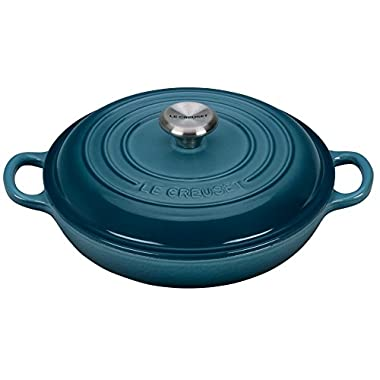Le Creuset Signature Enameled Cast-Iron 5-Quart Round Braiser, Marine