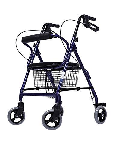 Z-SEAT Standard-Gehhilfen Transport Rollator Walker mit Sitz und 4 Rädern - Klappbarer Rollator Leichte Mobilitätshilfe Einstellbare kompakte Gehhilfen für Senioren, ältere Mens