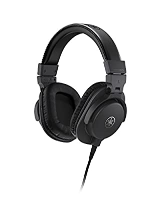 Yamaha HPH-MT5 Studio Headphones - Foldable Monitor Headphones with 3m Cable and 6.3mm Standard Stereo Adapter Plug, Black from Yamaha