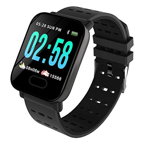OPAKY Reloj Inteligente Deportivo para Mujer Hombre Compatible con iOS y Android Smart Watch Hombres Mujeres Heart Rate Fitness Watch Pantalla a Color Reloj de Fitness con Podómetro