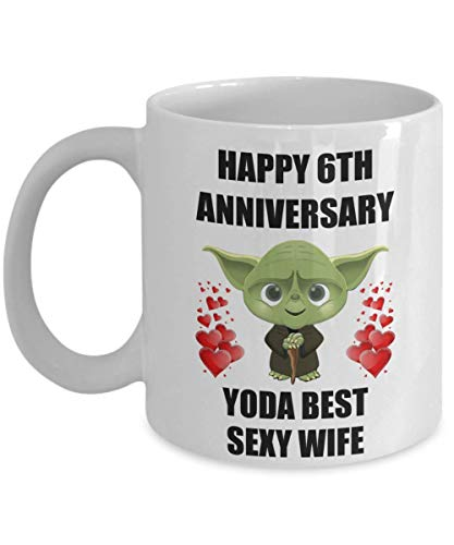 6th 6 Year Wedding Anniversary Gifts For Yoda Best Sexy Wife From Husband Gay Lesbian Partner Couples Women Star Wars Coffee Mug Cup