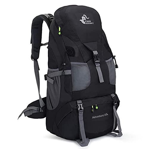 登山リュックサック 50L バックパック大容量 防水 超軽量 登山ザック アウトドア旅行バッグ/キャンプ/で休暇を過ごす/釣り/日常レジャー便利男女兼用 収納性抜群リュック ザック収納袋 (ブラック)