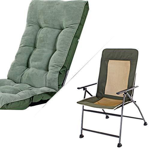 Chaise pliante chaise de bureau à domicile Siesta College Dortoir Dortoir Ordinateur Chaise Chaise arrière Canapé Chaise amovible et lavable Roulement haute charge (Couleur : Green)