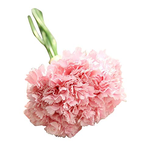 Artificial Flowers, Fake Flowers Silk Plastic Artificial Carnation Bridal Wedding Bouquet for Home Garden Party Wedding Decoration