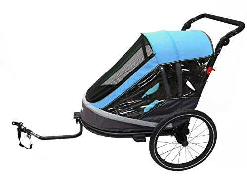 Ax.Bike Remorque Enfant 1-Step 1-2 Enfant(s) Bleue