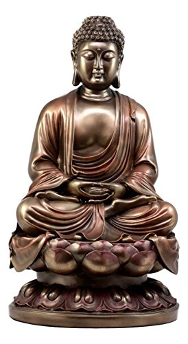 Gifts & Decor Large 15' Tall Meditating Gautama Buddha Statue Shakyamuni Sculpture Eastern Enlightenment