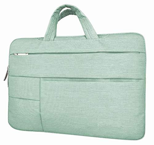 AUConer Chromebook case 14inch,15 inch Water-Resistant Thick foam Laptop Handbag sleeve for Lenovo Flex 5,Acer Swift 3,HP Pavilion x360,Acer Swift 5,Dell Inspiron 14,LG gram(14.1inch, HandleBag-Aqua)