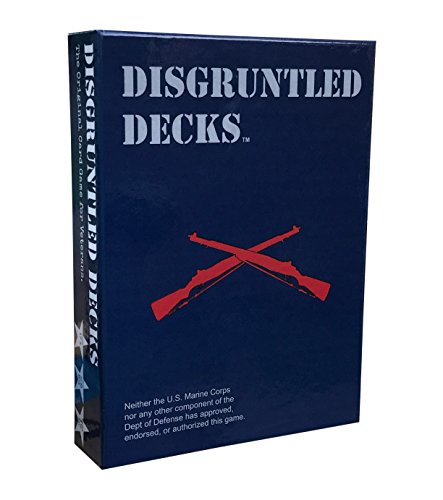 Disgruntled Decks - The Original Military Party Card Game for Veterans - Jarhead-Themed Deck