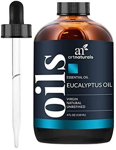 Aceite esencial de eucalipto ArtNaturals, aceite natural puro – Aromaterapia – 120 ml – con juego de regalo