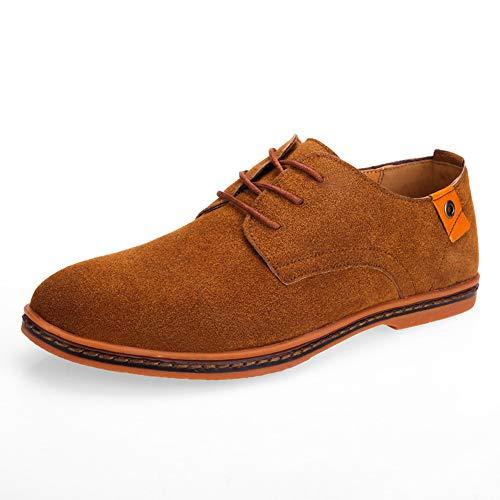 TAZAN heren veterschoenen klassieke Oxford suède schoenen business zomer vrijetijdsschoenen antislip Wearable zwart blauw rood grijs bruin