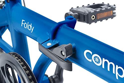 Compass Faltrad 16 Zoll Stahl blau, Klapprad, Klappfahrrad, leicht und robust Farbe blau - 3