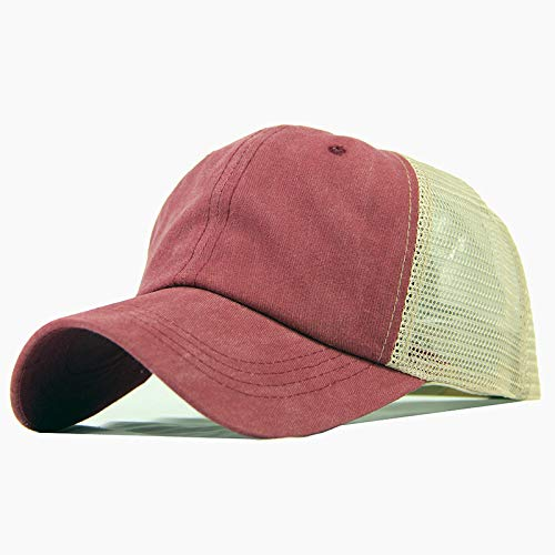 Pure cotton light plate mesh cap coated baseball cap made old washed cotton pure color light plate mesh cap baseball cap men and women Korean style tide