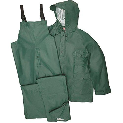 GEMPLER'S Premium Quality Rain Jacket and Bib Overalls Waterproof Rain Suit, Green, Size Small