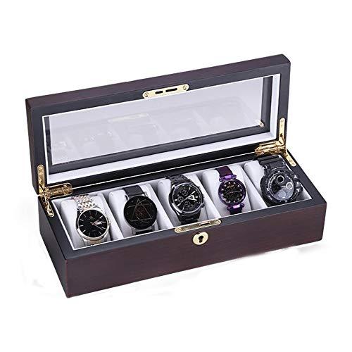 Mr.Zhangs Art Home Boîte De Montre Boîte De Rangement Rétro Boîte De Montre Mécanique Portable En Bois (Color : B, Size : 32 * 12 * 8 cm)