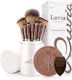 Luvia Prime Vegan Pro - Juego de brochas de maquillaje (12 unidades, incluye soporte para brochas, esponja y estera de limpieza)