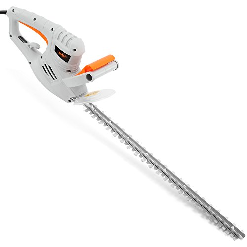 VonHaus 550W Electric Hedge Trimmer/Cutter with 60cm Blade + Blade Cover & 10m Cable