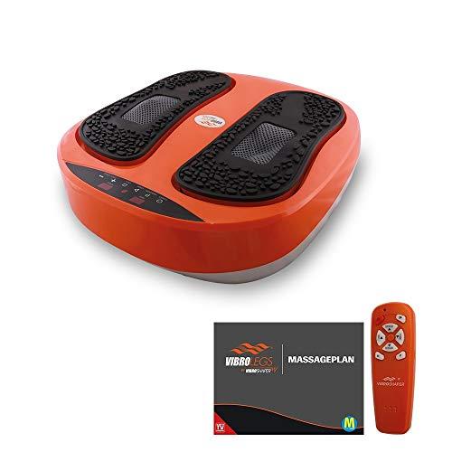 MediaShop VibroLegs – Massagegerät mit Vibration für Beine und Füße – Vibrationsplatte entspannt und vitalisiert – Fußmassage per Knopfdruck mit 2 Programmen