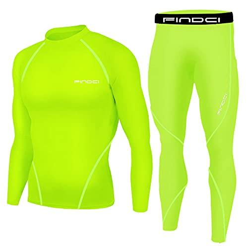 Laufsportanzug Herren Fitness Kleidung Schnell Trocknende Kleidung Basketball Ausrüstung Morgen Laufen Training Anzug Zweiteiler, grün, 90
