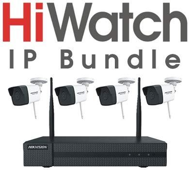 Hikvision HiWatch Series HWK-N4142B-MH/W - Kit de vigilancia Wi-Fi (versión alemana)