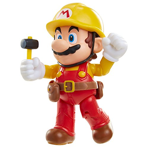 "World of Nintendo 4"" Maker Mario with Utility Belt Toy Figure"