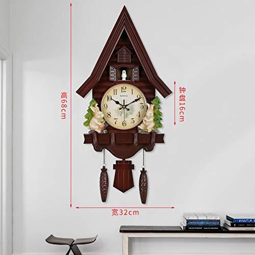 VESIFA Reloj de Pared de Cuco Creativo Reloj de Moda Reloj de Pared de Cuarzo Sala de Estar Dormitorio de niños hogar Personalizado cm AA