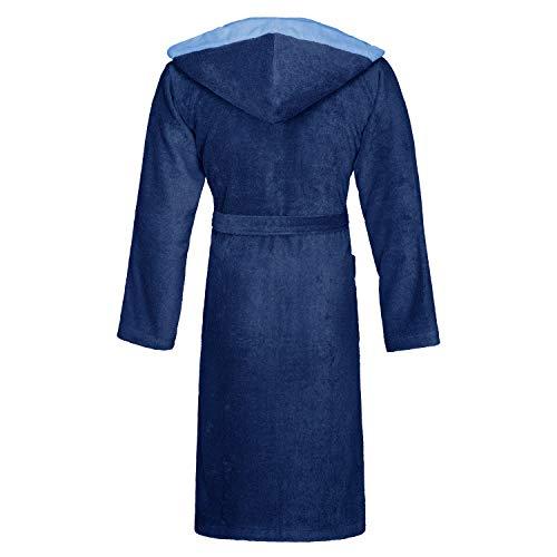 BUGATTI Stefano 493 - Albornoz con capucha para hombre, color azul marino