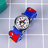Upwsma Nuevo Super héroe de dibujos animados flash luz niños relojes para niñas niños correa de goma linda princesa niños relojes reloj infantil