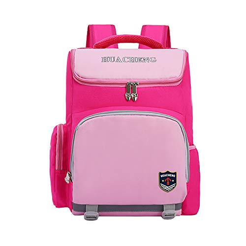 Primary School Bag for Girls, Children Backpack Teens Girl 7-12 Years Old Kids Rucksack-Pink