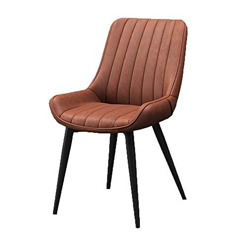ZCXBHD Scandinavische creatieve vrijetijdshuis-bureaustoel rugleuning/ijsbeen/PU-lederen stoel barkruk/make-upkruk/vrije tijd eetbaar, F