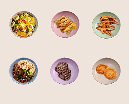 Unbreakable Plate, 4 Pack 7.8'' Wheat Straw Plates Sets,Sturdy Dinner Dishes Lightweight Reusable, BPA Free & Eco…